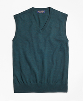 Brooks Brothers Saxxon Wool Sweater Vest
