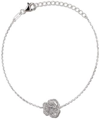 As 29 18kt white gold Roselia Flower small diamond bracelet