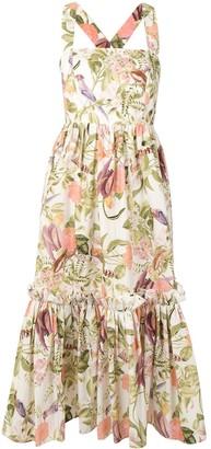 Cara Cara Floral Print Cotton Sundress