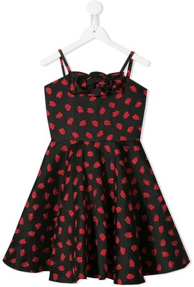 Little Bambah Tulip Embroidered Flared Dress