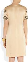 Moschino Cheap & Chic Moschino Cheap and Chic Jewel-embellished satin dress