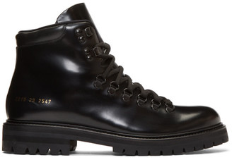 Common Projects Black Hiking Boots