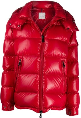 Moncler Quilted Hooded Zipped Jacket