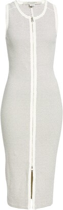 AllSaints Alicia Stripe Rib Midi Dress