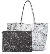 KENDALL + KYLIE Kendall & Kylie Izzy Marble Tote Bag & Pouch