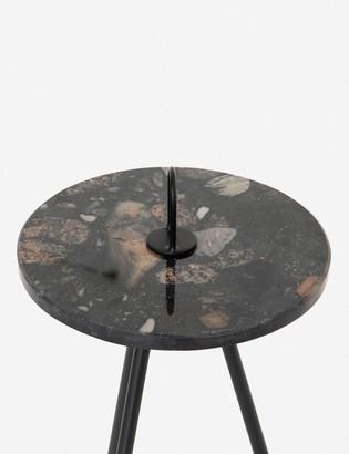 Lulu & Georgia Daisy Side Table, Multi Black Marble