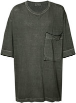 Yohji Yamamoto Loose Big Ink Dye T-shirt - men - Cotton/Linen/Flax - 3
