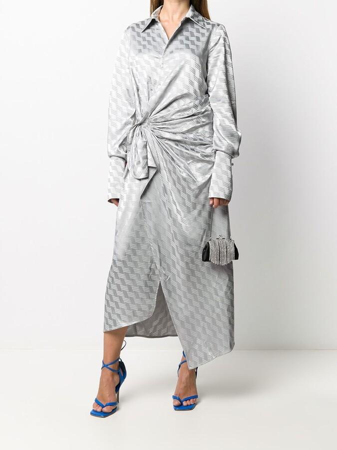 Thumbnail for your product : ATTICO Jacquard Midi Shirt Dress