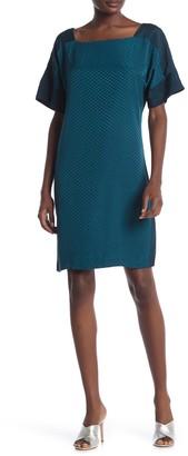 Club Monaco Achmand Tonal Dot Print Shift Dress