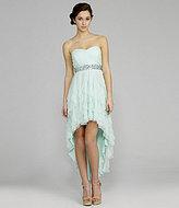 Teeze Me Strapless Corkscrew Hi-Low Dress