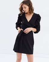 Miss Selfridge Cross Front Hitch Sleeve Poplin Dress