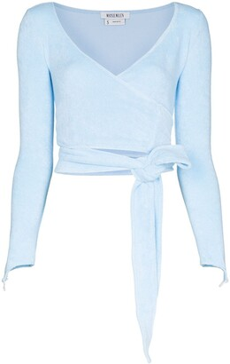 MAISIE WILEN Long-Sleeve Wraparound Top