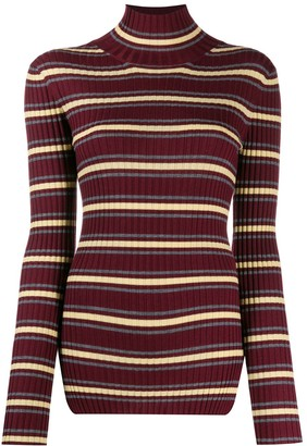 Plan C Striped Turtleneck Sweater