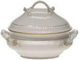 Herend Golden Edge Tureen with Branch Handle