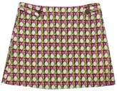 Trina Turk Pink & Green Woven Printed Skirt