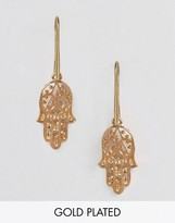 Sam Ubhi Drop Through Hamsa Hand Earrings