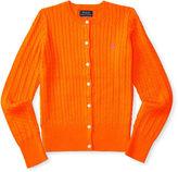 Ralph Lauren 7-16 Mini-Cable Cotton Cardigan