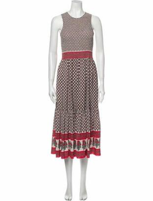 Ulla Johnson Printed Midi Length Dress