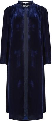 Libelula Laura Coat Navy Velvet