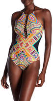 Trina Turk Nepal High Neck One-Piece Swimsuit