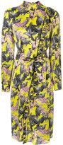 MSGM tie-waist ruffle detail dress