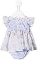 Lapin House Seashell ruffled cap sleeve dress