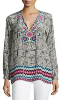 Tolani Virginia Printed Long-Sleeve Tunic