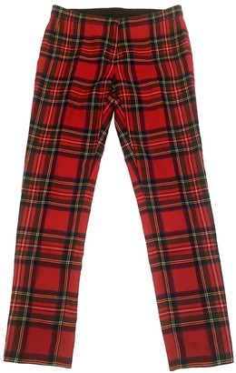 Burberry Red Wool Trousers