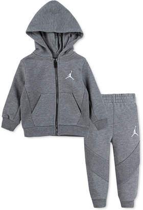 Jordan Baby Boys 2-Pc. Fleece Zip-Up Hoodie & Jogger Pants Set