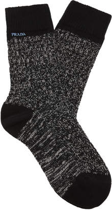 Prada Donegal Camp Wool-Cashmere Knit Socks Size: M