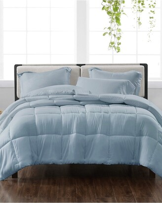 Cannon Solid Blue 3Pc Comforter Set