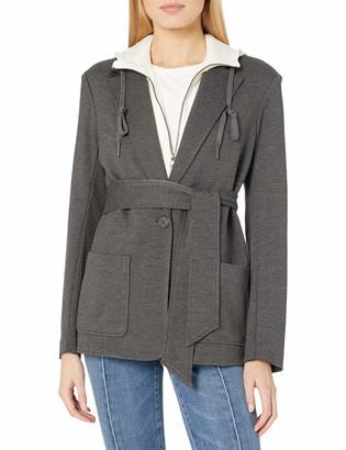 Bailey 44 Women's Long Sleeve Belted Hooded Blazer