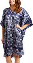 Winlar winlar Women's Maxi Dresses NAVY - Navy Geometric Caftan - Women