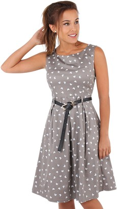 KRISP 6874-NVY-12: Vintage Pin Up Butterfly Dress