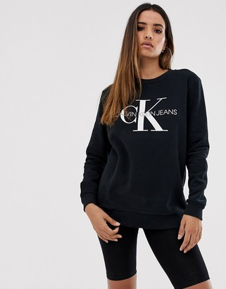 Calvin Klein Jeans logo sweatshirt-Black
