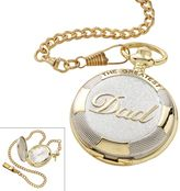 """Men's """"The Greatest Dad"""" Two Tone Pocket Watch"""