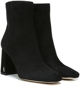 Sam Edelman Suede or Snake Print Heeled Ankle Boots - Codie