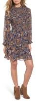 Sun & Shadow Women's Paisley Smocked Dress