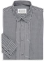 Maison Margiela Men's Overdyed Check Button-Down Shirt