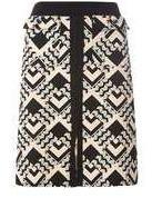 Dorothy Perkins Womens **Tall Blush Geometric Print A-Line Skirt- Pink