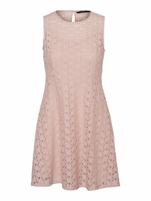 Vero Moda Women's VMALLIE LACE S/L Short Dress Color Casual Night