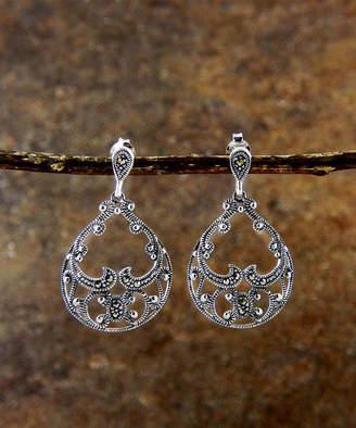 Vera & Co. Women's Earrings - Marcasite & Sterling Silver Filigree Teardrop Earrings