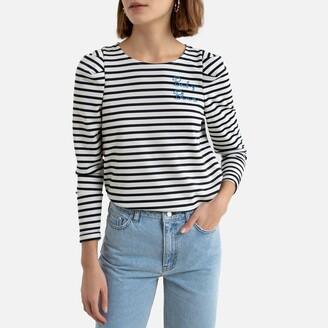 Naf Naf Breton Striped T-Shirt with Crew-Neck