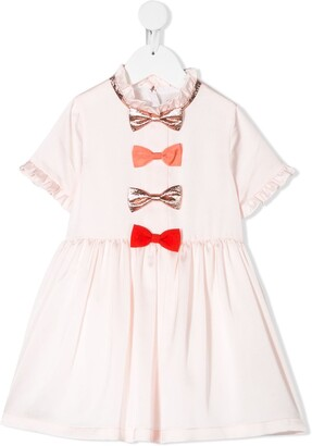 Hucklebones London Multi Bow Bodice Dress