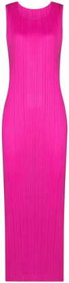 Pleats Please Issey Miyake Plisse Midi Dress