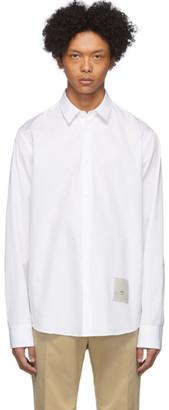Oamc White Cotton Poplin Salv Shirt