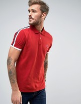 Pretty Green Tilby Moon Pique Polo Slim Fit In Red
