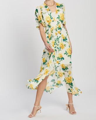 Dorothy Perkins Floral Shirred Waist Midi Dress