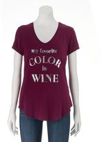 Apt. 9 Women's V-Neck Graphic Tee