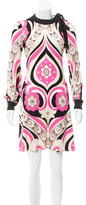 Emilio Pucci Abstract Print Tie-Accented Dress